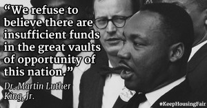 MLK quote on supportting opportunity