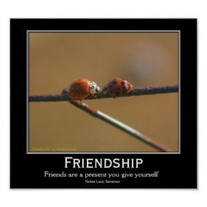 Friendship Ladybugs Motivational Quote Poster