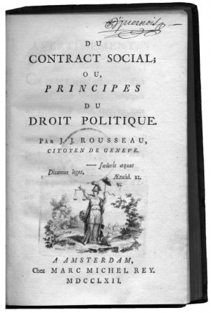 Social Contract (1762) Jean-Jacques Rousseau, in The Social Contract ...