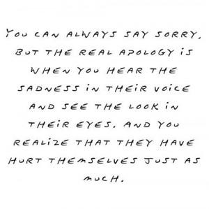 apology, eyes, hurt, quote, sad, sorry, text, true, voice