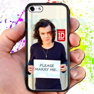 One Direction Harry Styles Please Marry Me Quotes Black iPhone 5 5S ...