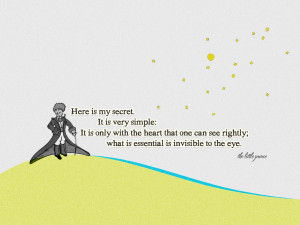 the little prince quote by geekyspaz