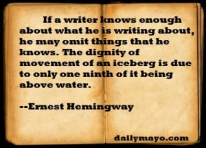 Quote: Earnest Hemingway on Writing