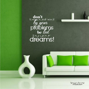 Wall Quote Led By Dreams- Vinyl Text Wall Word Collage Sticker Art
