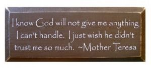 Our most popular Mother Teresa quote is quite long, so it works well ...