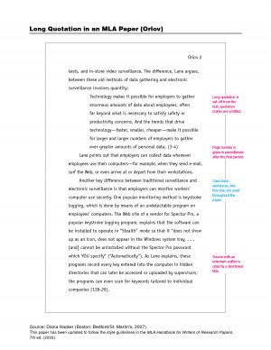 MLA Format Help for essay?
