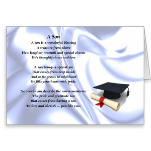 Graduation Son Poem Card