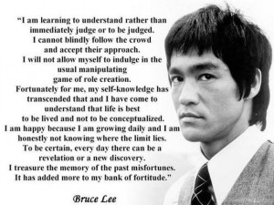 ... all your problems. Here i would like to suggest some Bruce Lee quotes