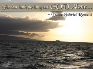 The sea hath no king...