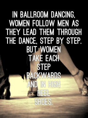 Ballroom Dancing, Women Follow Men As They Lead Them Through The Dance ...