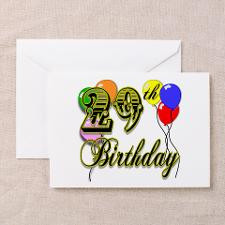 29th Birthday Greeting Cards (Pk of 10) for