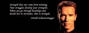 Arnold Schwarzenegger facebook cover quote