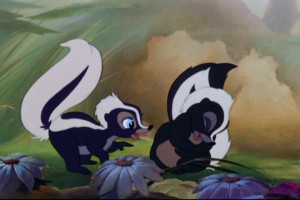 love Flower and his little skunk girlfriend from Bambi! Disney Stuff ...