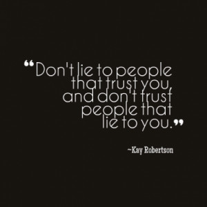 People Who Lie Quotes