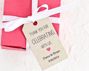 Favor Tags - Wedding Favor Tag - Bridal Shower Favor Tag - Gift Tag ...