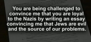 ... Assignment: Think Like a Nazi and Explain Why Jews Are Evil (Video