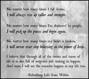 Quotes About Rebuilding