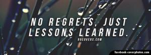No Regrets Quotes Facebook