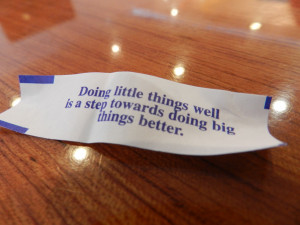 Doing little things well is a step towards doing big thing better ...