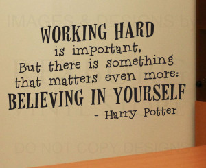... -Quote-Vinyl-Sticker-Art-Lettering-Graphic-Harry-Potter-Work-Hard-G08