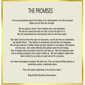 12 promises of Al-Anon