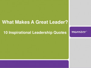 10 Inspirational Leadership Quotes