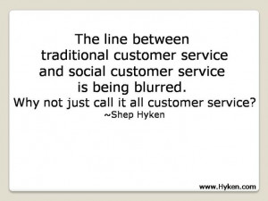 Why not just call it all customer service?