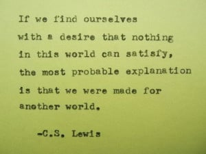 LEWIS quote inspirational quote life quote by PoetryBoutique, $9 ...