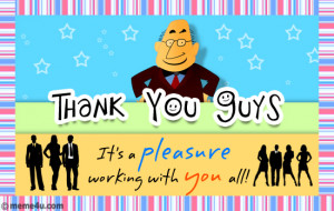 It's a pleasure working with you all!