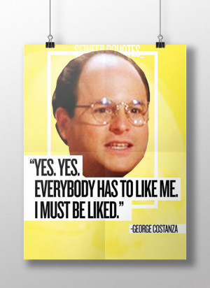 PRINTABLE Seinfeld Quotes: George Costanza - Poster Wall Art ...