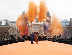 Queen Beatrix of the Netherlands reopens Rijksmuseum