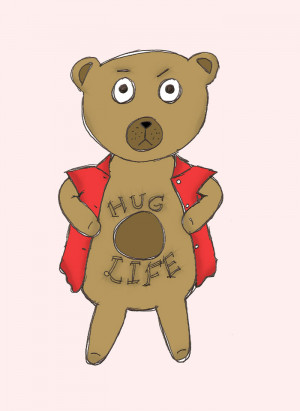 gangster bear drawings