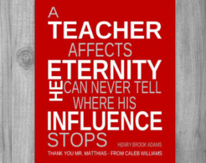 Personalized Teachers Gift Idea MALE TEACHER Quote Poem Inpirational ...
