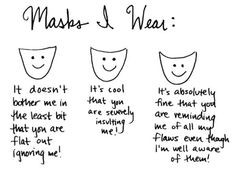 Hiding Behind A Mask Quotes You don't have to hide behind