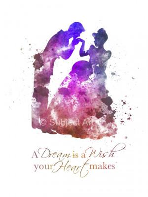 Quote ART PRINT illustration, Disney, Princess, Dance, Prince Charming ...