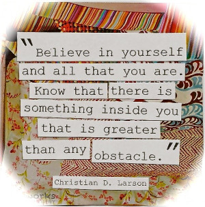 Believe in Yourself Cute Inspirational Quote