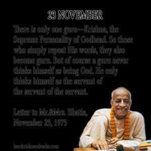 Srila Prabhupada Quotes For Month November 23