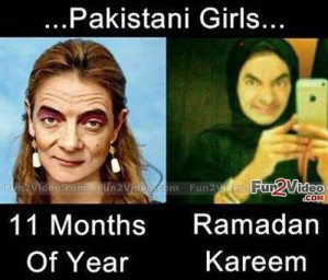 Pakistani Girls Funny Picture Which is humorous To See How They Make ...