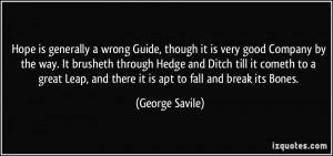 George Savile Quote