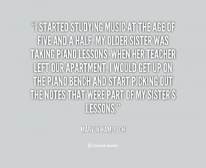 quote Marvin Hamlisch i started studying music at the age 17946 png