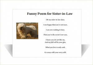 Sister In Law Quotes Funny Funny sister-in-law poem
