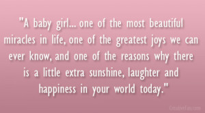Girl Baby Shower Quotes