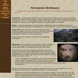 the principles of newspeak by george orwell
