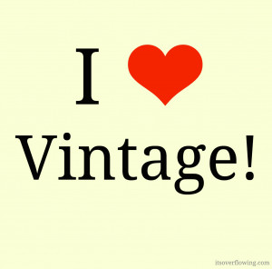Thrifty Finds I Adore | I {Heart} Vintage Quote