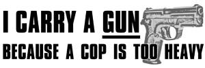 Gun Quotes I carry a gun. i carry a gun