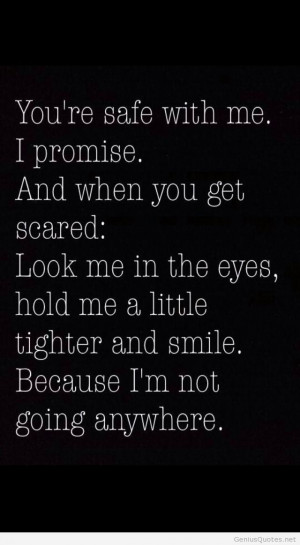 Safe with me quote
