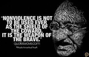 Mahatma Gandhi Nonviolence Quotes Mahatma gandhi