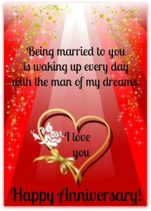 ... Is Waking Up Eceryday With The Man Of My Dreams - Anniversary Quote