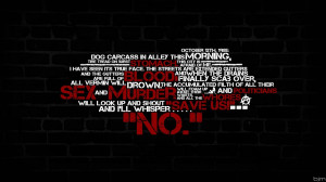 Watchmen text quotes rorschach typography brick wall wallpaper