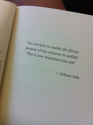 The Power of Now Eckhart Tolle #life #purpose #YOU